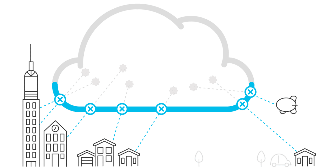 Cloud security illustration
